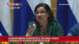 MINSA presentó al cuerpo diplomático el mapa de salud de Nicaragua