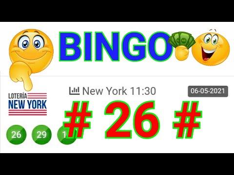 SORTEOS de HOY....!! loteria NEW YORK NOCHE/ BINGO HOY ((( 26 ))) RESULTADOS de las LOTERÍAS HOY