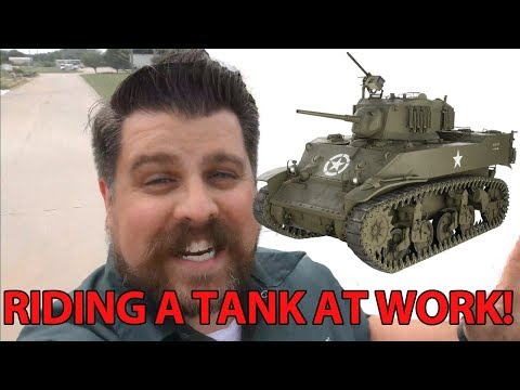 Riding in an M5A1 Stuart Tank!