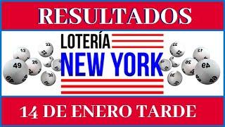 Loteria New York Tarde resultados de hoy 14 de Enero del 2020