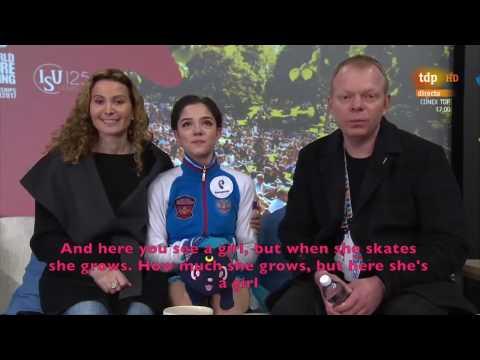[ENG SUB] Spanish Commentary: Evgenia Medvedeva (RUS) SP - Worlds 2017