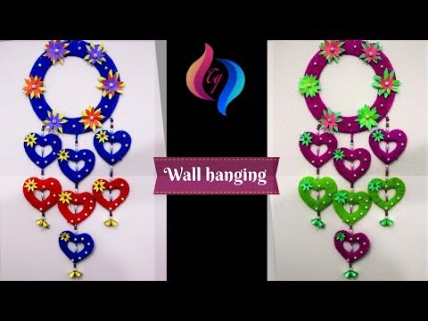 Wall hanging craft ideas - How to make craft items from waste material -  Wall Hanging Crafts