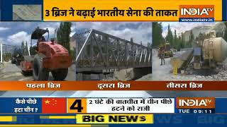 Ladakh में सेना की तैयारी पूरी, तीन ब्रिज ने बढ़ाई भारतीय सेना की ताकत - INDIATV