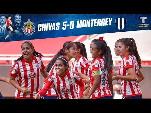 Highlights & Goals | Chivas vs. Monterrey  5-0 | Chivas Femenil | Telemundo Deportes