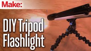 Magnetic Tripod Flashlight