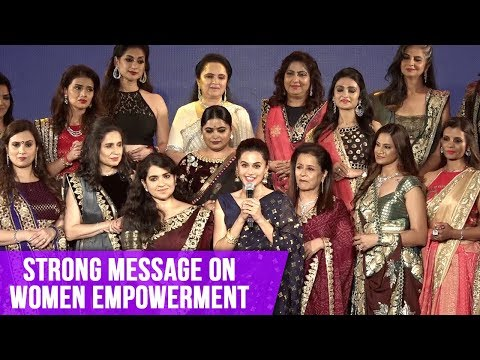 Taapsee Pannu's Strong Message On Women Empowerment | Ramp Walk