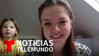 Experta de salud es interrumpida en plena entrevista por su pequeña hija | Noticias Telemundo