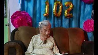 Mujer guatemalteca celebró 102 años de vida
