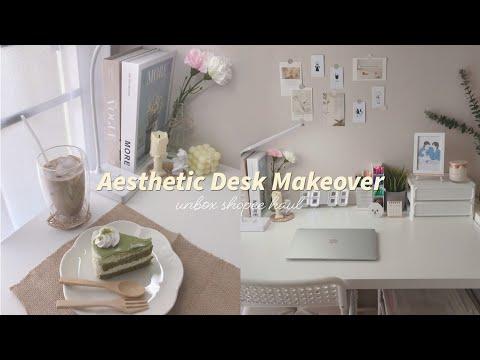 📚-Aesthetic-Desk-Makeover- -Un