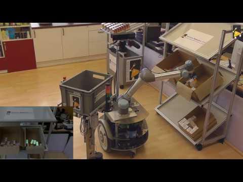 Intralogistics Scenario: Demonstrating Flexible Commissioning with a Heterogenous Robot Fleet