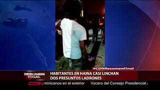 Habitantes en Haina casi linchan dos presuntos ladrones