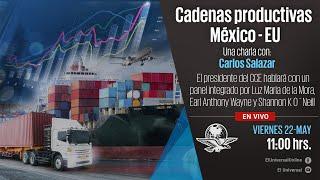 Cadenas productivas México - EU; una charla con Carlos Salazar