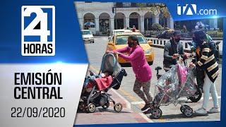 Noticias Ecuador: Noticiero 24 Horas, 22/09/2020 (Emisión Central)