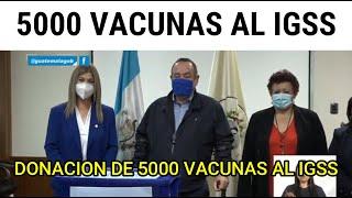 Donan 5000 vacunas al IGSS
