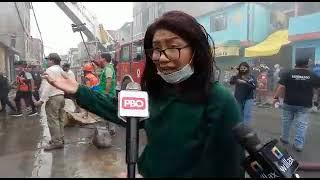 EN VIVO INCENDIO EN SANTA ANITA: Comerciantes desesperados tratan de recuperar mercadería