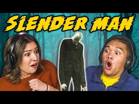 connectYoutube - TEENS REACT TO SLENDER MAN TRAILER