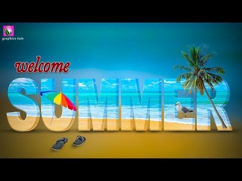 Summer Text In Photoshop - Photo Manipulation Tutorial - Photoshop CC