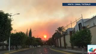 Activan alerta atmosférica por incendio forestal en Zapopan, Jalisco