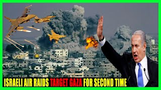 Israeli air raids target Gaza for second time since ceasefire