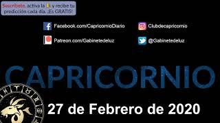 Horóscopo Diario - Capricornio - 27 de Febrero de 2020