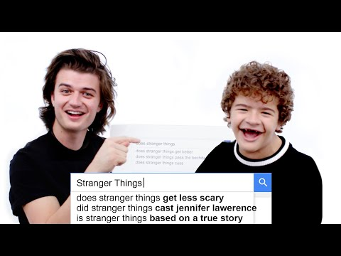connectYoutube - Stranger Things Cast Answer the Web's Most Searched Questions | WIRED