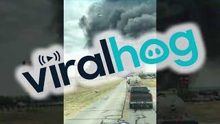 شاهد .. انفجار ضخم لشاحنة وقود