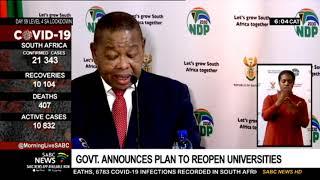 Govt. announces plan to reopen universities