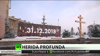 Recuerdan  a las 39 víctimas del colapso de un edificio en la ciudad rusa de Magnitogosrk