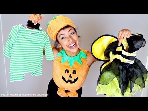 connectYoutube - TRYING ON BABY COSTUMES!! HALLOWEEN FETUS.