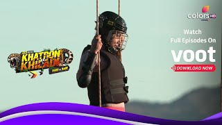 Khatron Ke Khiladi S11 | ख़तरों के खिलाडी S11 | Mahek Struggles With The Swings - COLORSTV