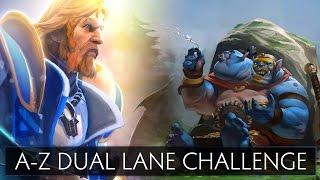 Dota 2 A-Z Dual Lane Challenge - Ogre Magi and Omniknight
