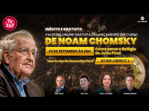 Eduardo Moreira convida para aula exclusiva de Noam Chomsky