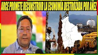 Luis Arce Dice Que Reconstruirá La Economía Destrozada por Jeanine áñez