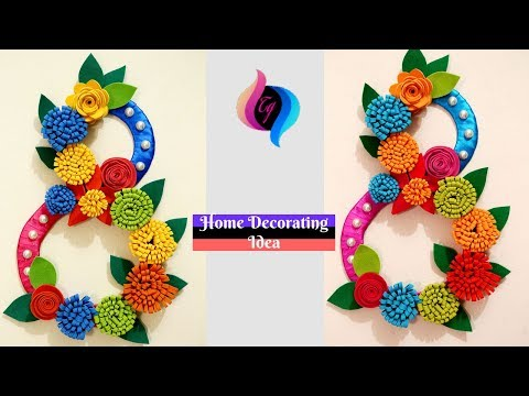DIY - Wall decor idea with paper and cardboard - Make Paper wall hanging very easy and simple