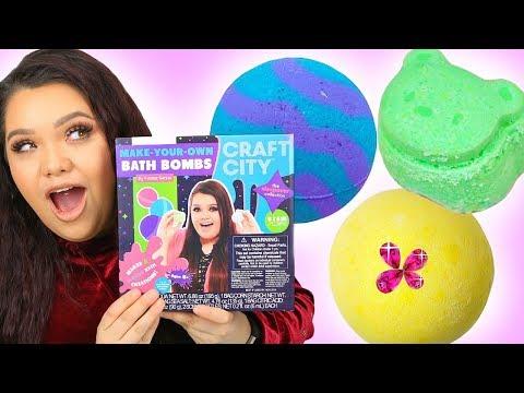 connectYoutube - Karina Garcia's DIY BATH BOMB KIT! Sleepover Collection + Make Your Own Lip Kits!