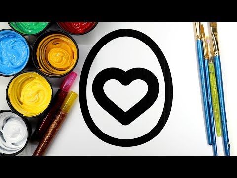 Painting Easter Egg Heart Painting Pages