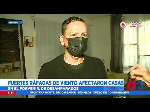 Fuertes ráfagas de viento afectaron viviendas en Desamparados