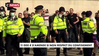 Royaume-Uni : une lourde amende pour non-respect du confinement