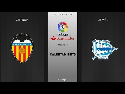 Calentamiento Valencia vs Alavés