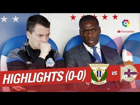 Resumen de CD Leganés vs RC Deportivo (0-0)