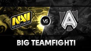 Big teamfight by Na`Vi vs Alliance @ Starladder X