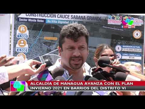 Alcaldía de Managua avanza con el plan invierno 2021 en barrios del Distrito VI