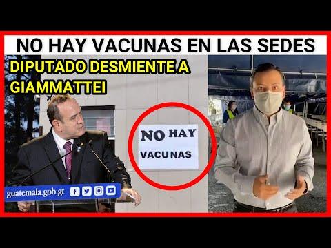 URGENTE GUATEMALA, DIPUTADO DESMIENTE AL PRESIDENTE GIAMMATTEI, NO HAY VACUNAS EN LAS SEDES ZONA 15
