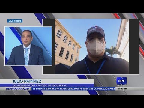 Entrevista a Julio Ramírez, coordinador del proceso de vacunas en el 8-7