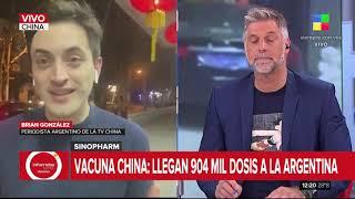 Vacuna Sinopharm: llegan 904 mil dosis a la Argentina