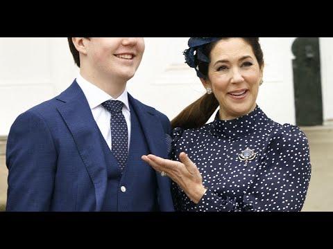 Mary de Danemark : Princesse et maman stylée pour la confirmation de son fils, le prince Christian