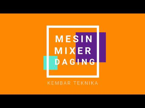 Video Mesin Mixer Daging Bakso