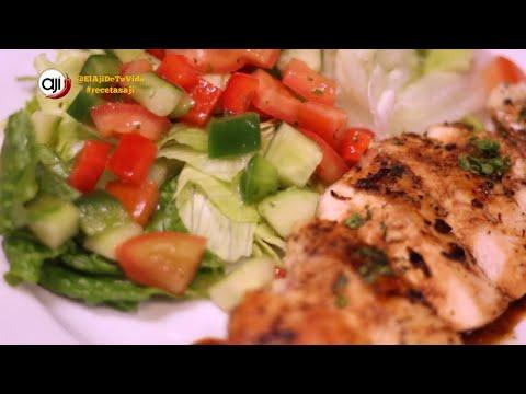 Receta Ají: Pollo a la plancha con ensalada fresca