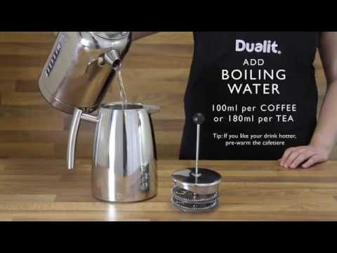 Dualit Kaffepress Dua-Filter 880 ml