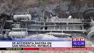 Dos heridos, deja volcamiento de rastra en Intibucá